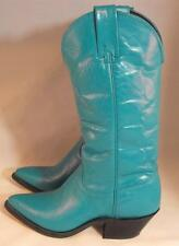 Vintage Womens Teal Green Vittorio Ricci Studio Cowboy Boots Size 5 M Western