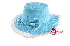 Women's Wide Brim Summer Beach Sun Hat Straw fashion adumbral Hat Brown Blue