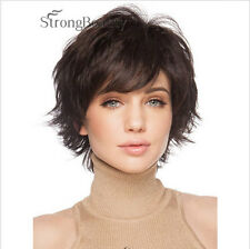 USJF10286 new short dark brown straight vogue natural hair wig wigs for women