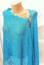 Handmade cotton linen summer wedding   shawl wrap scarf poncho