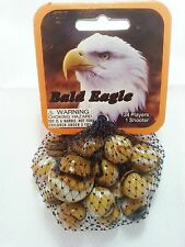GLASS MEGA MARBLES *BALD EAGLE* 24 players +1 Shooter FREE SHIPPING!