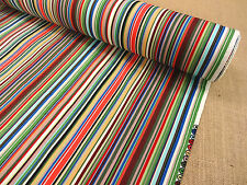 100% COTTON  FABRIC +++ MULTI STRIPE + COLOUR 3