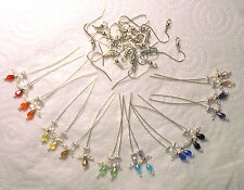 Angel Earrings Kit - Assorted Colours - Makes 10 pairs - Silver Plated Findings