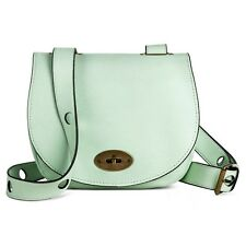 Women's Drawstring Crossbody Bucket Handbag Mint