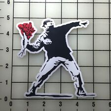 "Banksy Flowers 5"" Wide VInyl Decal Sticker - BOGO"
