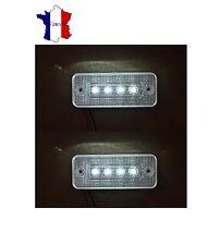 2X 12V 4 LED FEUX DE GABARIT LATERAUX BLANC CAMION CARAVANE BUS VAN REMORQUE