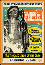 Nostalgic Art Metal Postcard The Sound of Hendrix the biggest show 14 x 10 cm