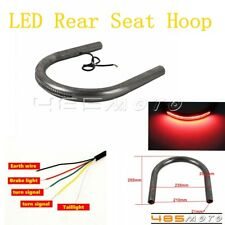 1'' Tubes Cafe Racer Brat Rear Seat Frame Hoop Loop W/LED Taillight For Honda CB