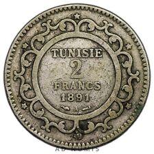 2 francs 1891 A Paris Tunisie - Argent