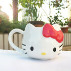 Hello Kitty Cat Cute Cup Tea Milk Coffee Mug White RED Bowknot Gift 1Pc