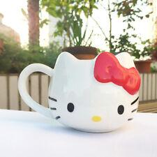 Hello Kitty Cat Cute Cup Tea Milk Coffee Mug White RED Bowknot Gift 1Pc
