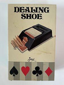 Vintage 1981 Jax Playing Card Dealing Shoe Holds 4 Decks Model #5005