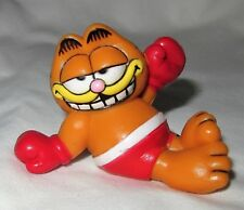GARFIELD Boxer plastic Figure Figurine Boxing Gloves United Feature Syndicate