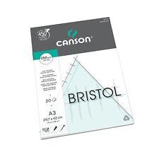 CANSON BRISTOL Disegno Blocco di carta 250 GSM 20 FOGLI A3 resistenti extra liscia