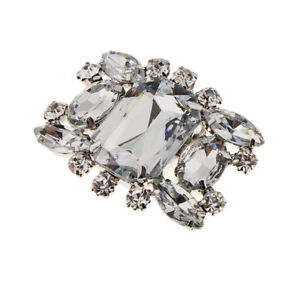 Rhinestone Crystal Shoe Charms Clips Wedding Party Shoe Buckle Decor