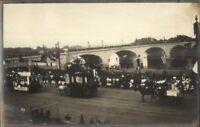 Hartford CT Parade & Bridge c1910 Amateur Unidentified Real Photo Postcard