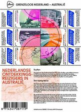 Nederland 2016 Grenzeloos Nederland-Australia vel A Ontdekkingsreizigers pfr/mnh