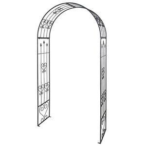 Decorative Metal Garden Patio Arch Fencing Black Trellis Archway Frame Gateway