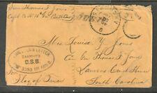 P.O.W. CIVIL WAR 1864 Cover JOHNSON'S ISLAND~Flag of Truce~General Morgan Raider