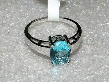 Edelstein Ring  Silber mit AQUAMARIN CZ  Gr. 10  NEU!