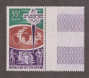 Ivory Coast - 1964 35F Air Mail, Tpkyo Olympics