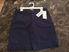 Cat & Jack Navy Flat Front School Uniform Shorts SZ LG (10/12) Adjustable Waist