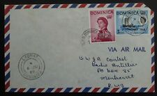 1969 Dominica Airmail Cover ties 2 stamps cancelled Laudat