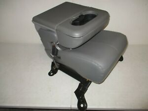 1999-2010 Ford Super Duty LEATHER JUMP SEAT GRAY center console F250 F350 F450