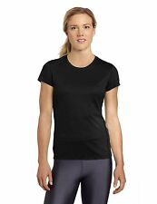 Asics Women's Core Short Sleeve Fitness Top running training black sz l