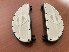 Pair WHITE HARLEY WL WLA KNUCKLEHEAD FOOTBOARD
