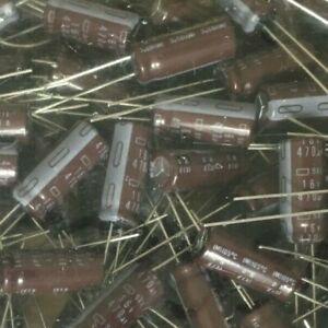 200 x Capacitors   470uF  16V   105°      20mm x 8mm   Bag of 200 Pieces   Z3271