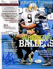 MICHAEL BENNETT/CLIFF AVRIL SEATTLE SEAHAWKS SIGNED JSA SPORTS ILLUSTATED 8x10