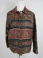 Coldwater Creek Tapestry Button Front Long Sleeve Jacket Women's Size M