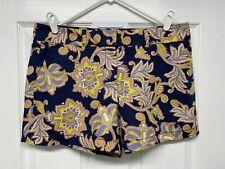 LOFT Womens Linen Blend Floral Paisley Riviera Shorts: Size 8, Pockets, NWT