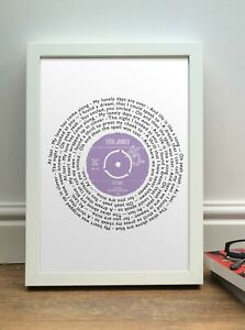 Personalised Etta James AT LAST song words FRAMED PRINT | Ideal Anniversary Gift