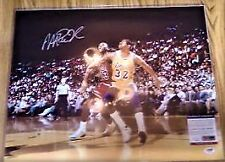 Magic Johnson auto 16x20 signed photo PSA/DNA autograph w/ Michael Jordan Lakers