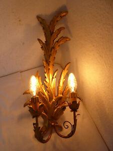 Wandlampe Wandleuchte Holz Barockstil Holz Leuchte Lampe  O