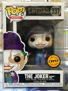 Funko POP! Heroes: Batman 1989 THE JOKER with HAT Chase Figure #337 w/ Protector