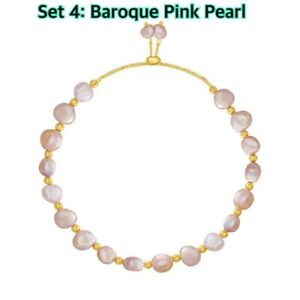 UK Genuine White Pink Freshwater Pearl Bracelet Stretch Clasp Wedding Gift NEW