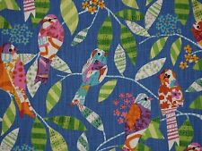 P Kaufmann FEATHERED FRIENDS BLUEBIRD Tweetie Birds Home Decor Drapery Fabric