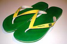Mens Green Brazil IPANEMA Grendene Flip Flop Thong Sandals ~ Euro 45/46  USA 12