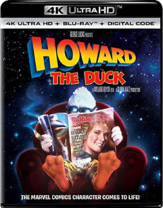Howard The Duck (4K Ultra HD + Blu Ray + Digital Code) George Lucas NEW w/ Slip