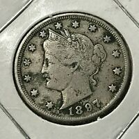 1897 LIBERTY NICKEL HIGH GRADE COIN