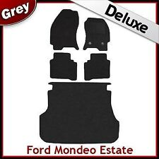 FORD MONDEO Estate Mk3 2000-2007 Tailored LUXURY 1300g Car & Boot Mats BLACK