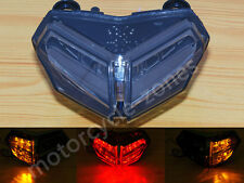 For Ducati 848 1098 1198 LED Tail Light Integrated Turn Signal Smoke 2007 -2013