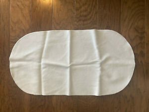 Naturepedic Organic Cotton Waterproof Oval Bassinet Pad, gently used