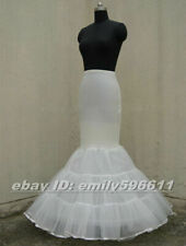 Lycra Tulle Ivory Mermaid Trumpet Style Wedding Gown Petticoat Crinoline Slip