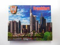 Frankfurt Main Skyline Holz Souvenir Wood Magnet,Souvenir Germany,Neu