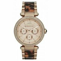 NWT Michael Kors MK5881 Darci Rose Gold Tortoise Wrist Watch Women