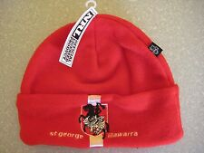 NRL ST GEORGE ILLAWARRA DRAGONS BEANIE Fleecy  w/tag -NEW!